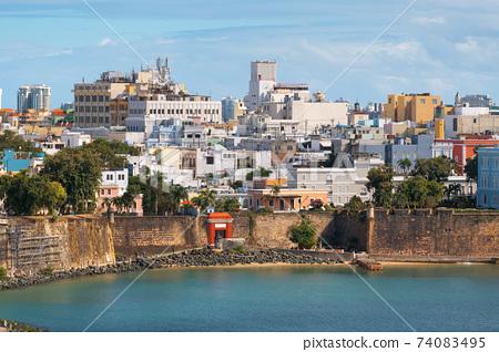 Old San Juan, Puerto Rico on the Water 74083495