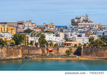 Old San Juan, Puerto Rico on the Water 74083497