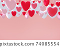 3D Valentines day greeting card 74085554