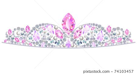 公主頭飾 74103457