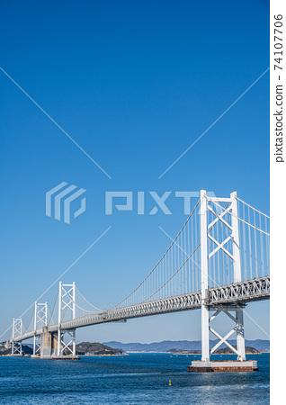 瀨戶大橋紀念公園的瀨戶大橋的景色 74107706