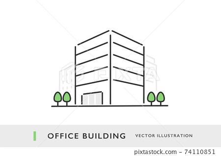 辦公大樓的圖像插圖素材 74110851