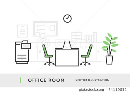辦公室形象插畫素材 74110852