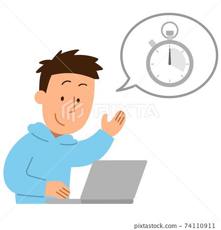 秒錶/ PC /人1 74110911