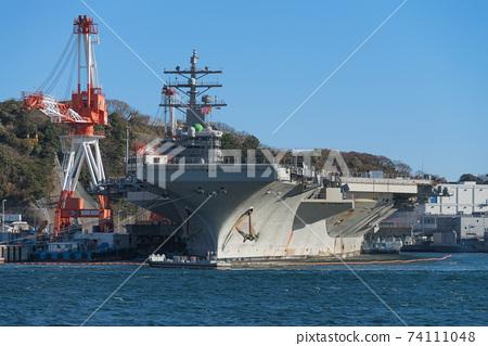 羅納德·裡根號(Ronald Reagan)號航空母艦,橫須賀美國海軍基地 74111048