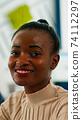 Black manager woman looking at camera smiling 74112297