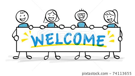 welcome 보드를에 환영하는 인물들 74113655
