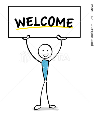 welcome 보드를에 환영하는 인물 74113658