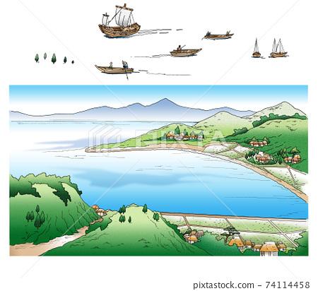 海灣(江戶)坐船01 74114458