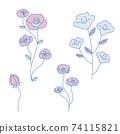 手繪花插圖集 74115821