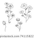 手繪花插圖集 74115822
