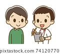 一名男護士採訪的年輕人(微笑) 74120770