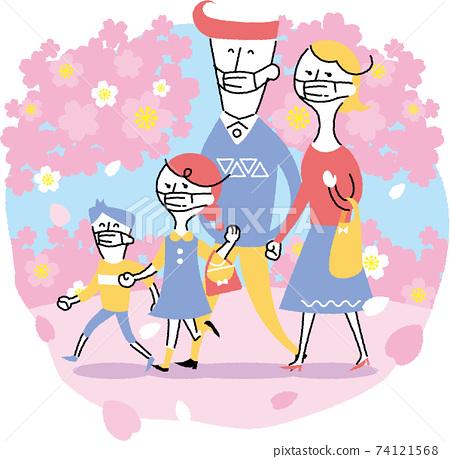 마스크 꽃놀이 74121568