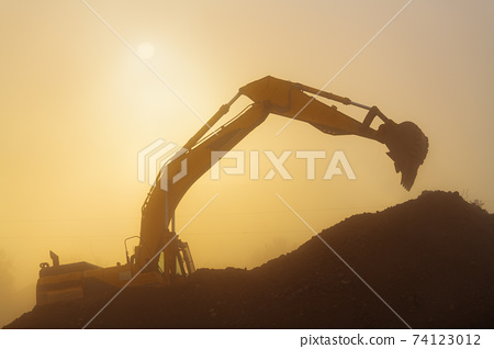 Construction Site in Dusty AIr 74123012