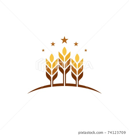 Agriculture wheat vector 74123709