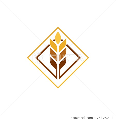Agriculture wheat vector 74123711