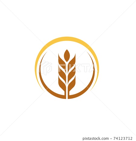 Agriculture wheat vector 74123712