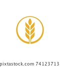 Agriculture wheat vector 74123713