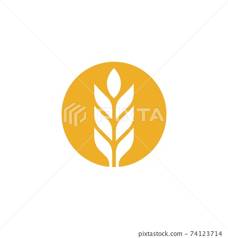 Agriculture wheat vector 74123714