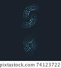 halftone circle dots vector 74123722