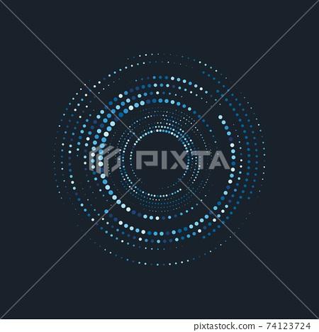 halftone circle dots vector 74123724