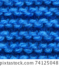Dark blue knitted fabric seamless pattern for borderless fill. 74125048