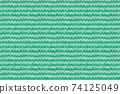 Turquoise, Mint Color Knitwear Fabric Texture. Close-up Clothes Backdrop 74125049