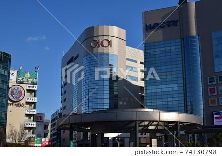 武蔵溝노口 역 (미조 노 쿠치 역)의 역전 풍경 겨울 74130798