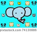 팬더 코끼리 호랑이 74130886