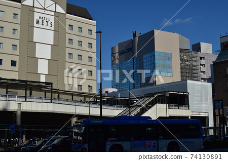 武蔵溝노口 역 (미조 노 쿠치 역) 남쪽 출구 풍경 겨울 74130891