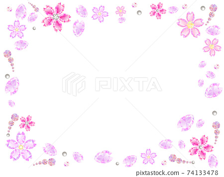 반짝 벚꽃 프레임 74133478