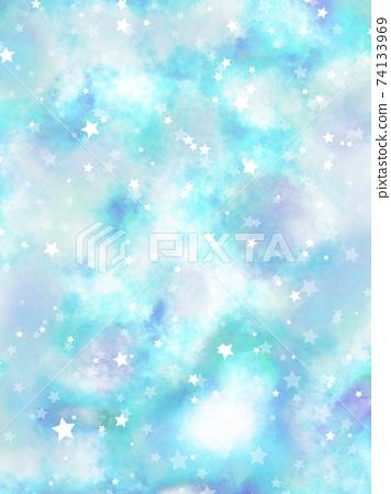 淡藍色的雲彩中鑲嵌的恆星背景 74133969