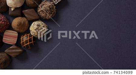 巧克力糖果的背景材料 74134099