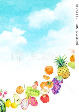 水彩插圖水果水果 74139230