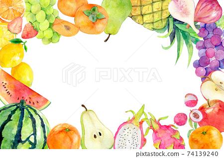 水彩插圖水果水果 74139240
