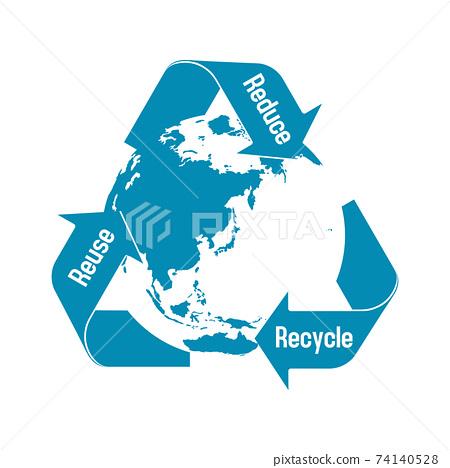3R(回收,再利用,減少)/回收/生態圖像標記 74140528