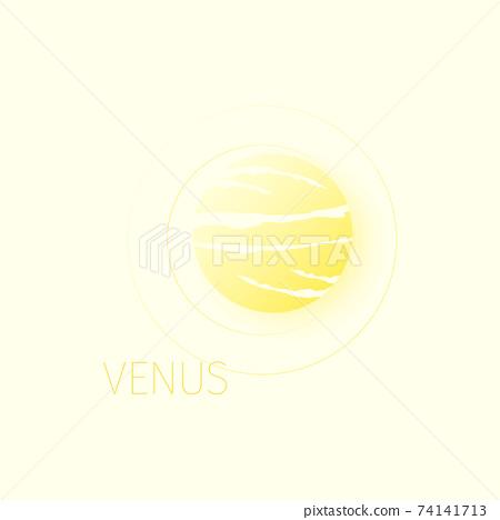 Venus planet in space expanse. 74141713