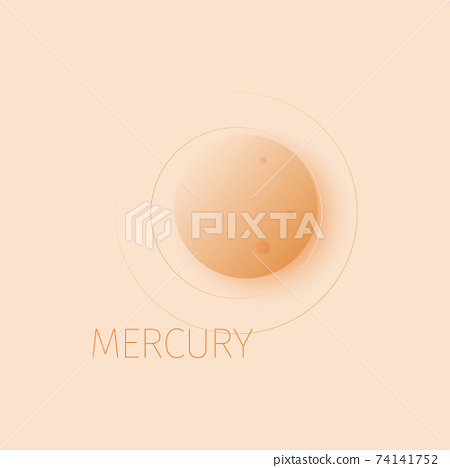 Mercury planet in space expanse. 74141752