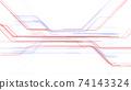 디지털 회로 네트워크 기술 공간 3D 일러스트 배경 백 74143324