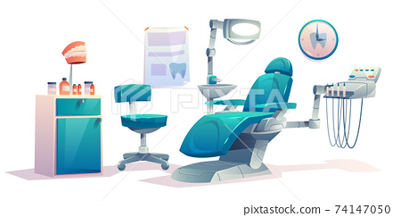 Dentist office dental cabinet interior stomatology 74147050