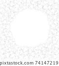 White Paper flowers background illustration 74147219