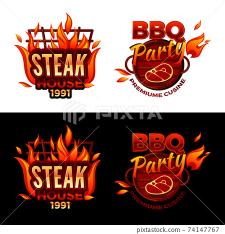 Steak house barbecue meat vector illustration 74147767