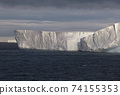 Sunset Over The Iceberg Alley In Antarctica 74155353