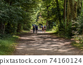 People walking in Castle Park of Vizille 74160124