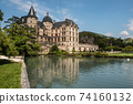 Chateau de Vizille Castle Reflected in Lake 74160132