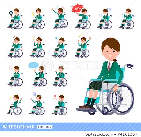 輪椅 面部表情 表情 74161367