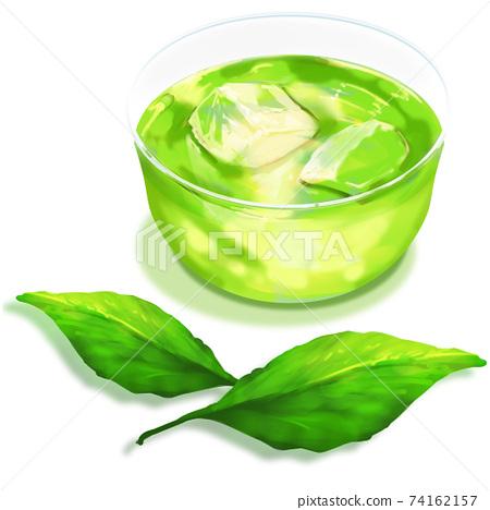 綠茶和茶葉_有陰影 74162157