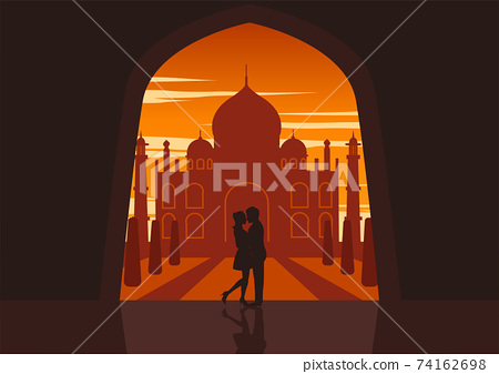 People - 07 Couple Taj  Mahal 74162698