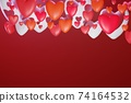 3D st. Valentine's day greeting card 74164532