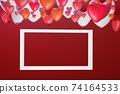 3D st. Valentine's day greeting card 74164533